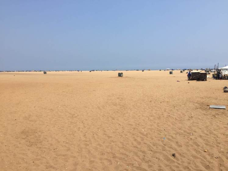 Marina Beach in Chennai, Tamil Nadu, India