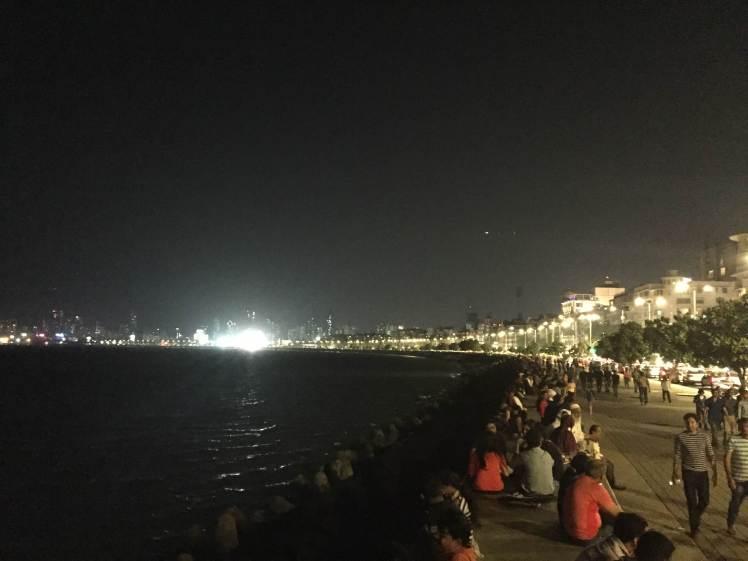 Marine Drive in Mumbai, Maharashtra, India