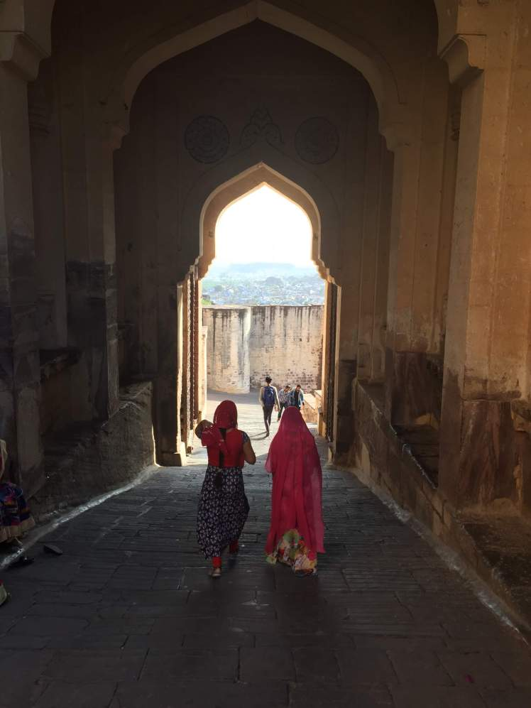 Entry Arch at Mehrangarh Fort in Jodhpur, Rajasthan, India