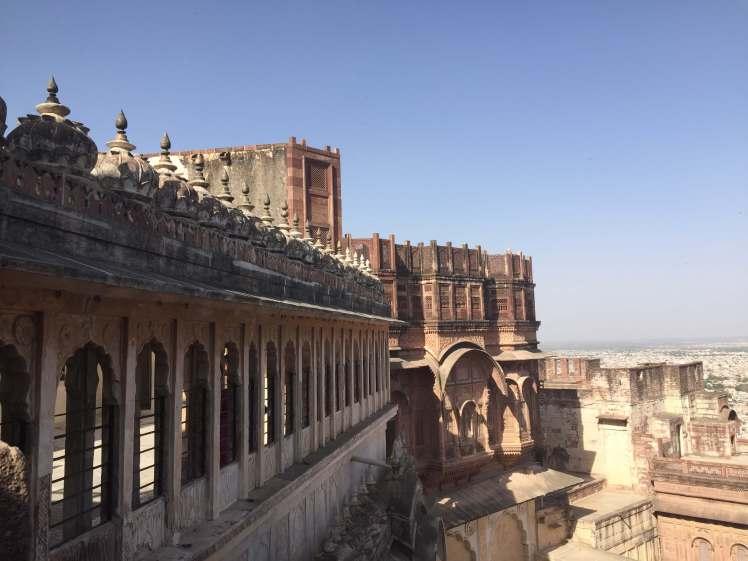 Mehrangarh Fort Roofline in Jodhpur, Rajasthan, India