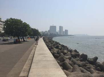 Coastline in Mumbai, Maharashtra, India