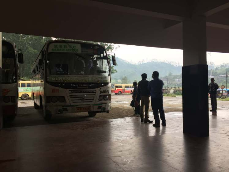 Bus Station in Munnar, Kerala, India
