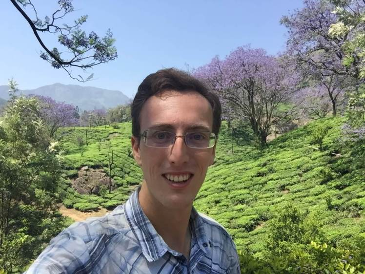 Selfie at a Tea Plantation near Munnar, Kerala, India