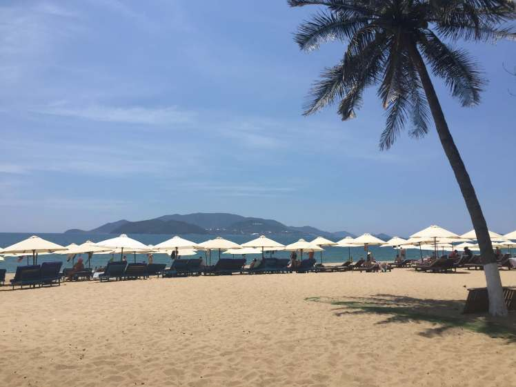 Relaxing on the beach in Nha Trang.