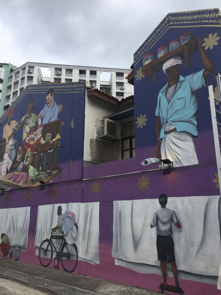 Occupation Mural in Little India in Singapore