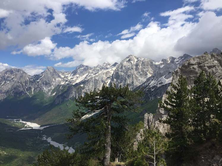 Overlooking the Valbona Valley in Albania
