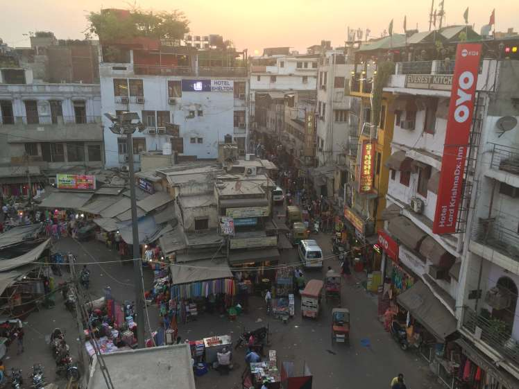 Paharganj Neighborhood in Delhi, India