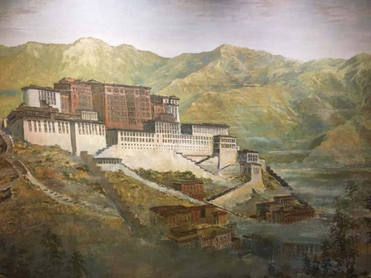 Painting of Dalai Lama's Home at a Museum in Mumbai, Maharashtra, India