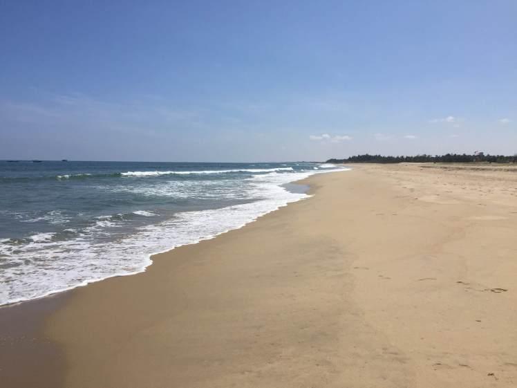 Paradise Beach in Pondicherry, India