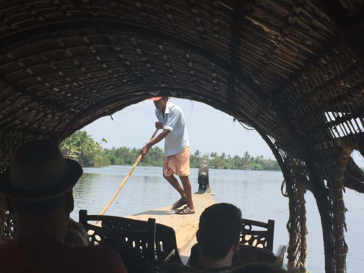 Punt-Boatman in the Backwaters of Kerala, India