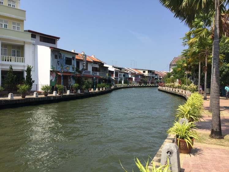 Riverwalk in Melaka, Malaysia