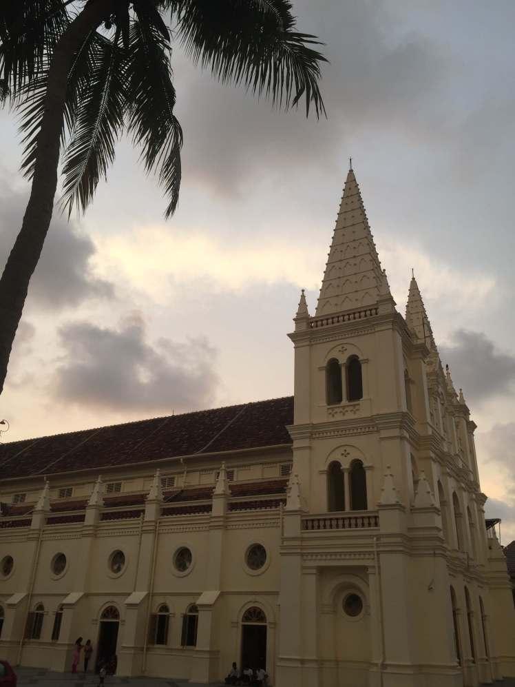 Santa Cruz Cathedral Basilica in Kochi, Kerala, India