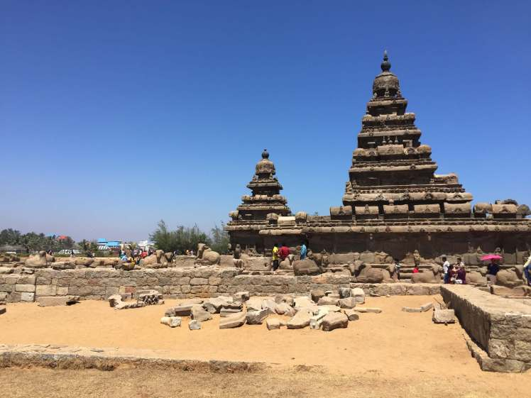 The Shore Temple in Mahabalipuram, Tamil Nadu, India