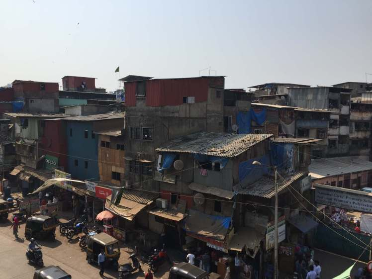 Slum in Mumbai, Maharashtra, India