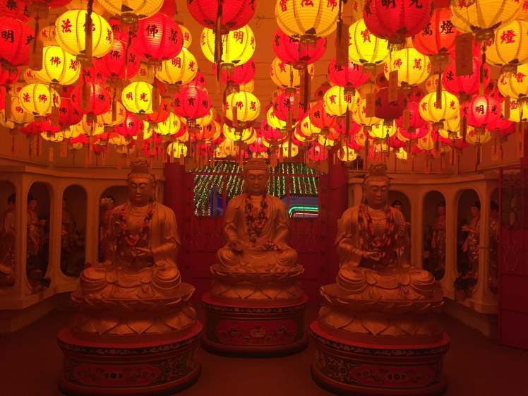 Statues in Kek Lok Si Temple in Penang, Malaysia