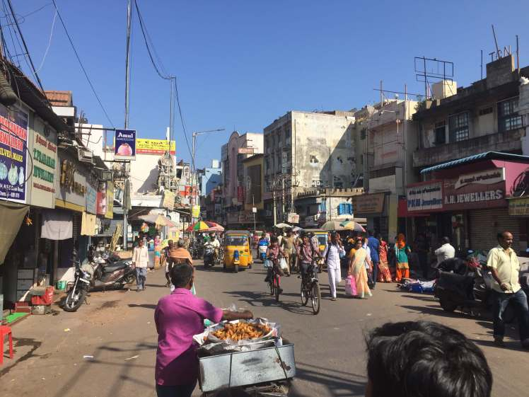 Street in Chennai, Tamil Nadu, India