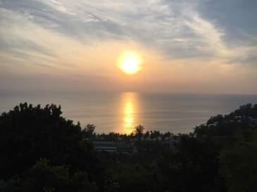 Sunset over Kata Noi Beach on Phuket, Thailand