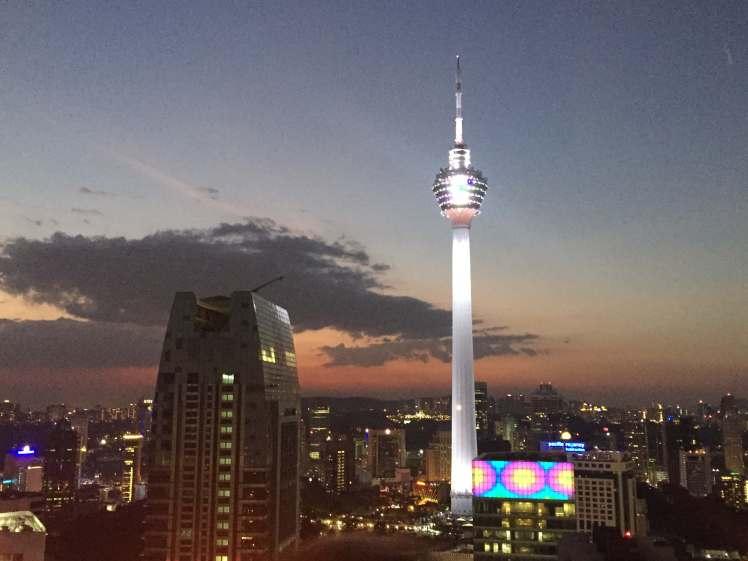 Sunset over Kuala Lumpur, Malaysia
