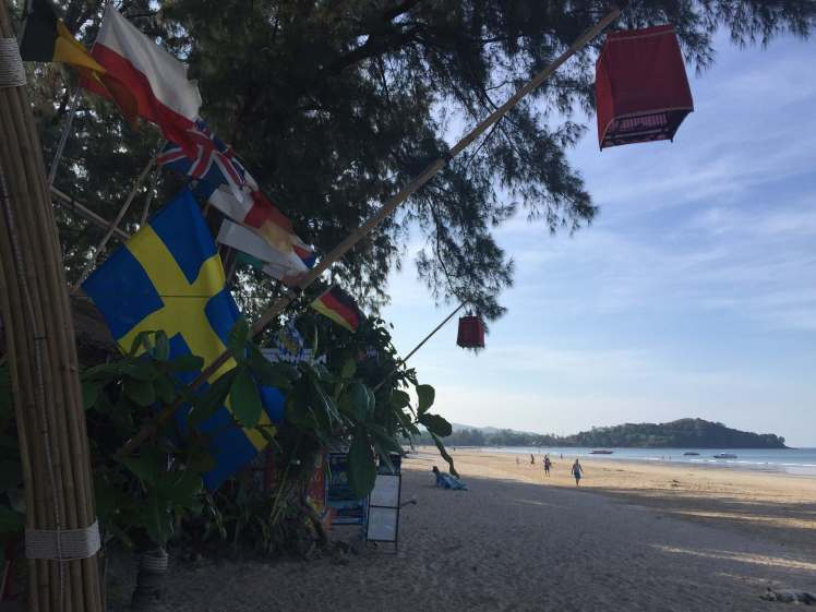 Swedish Flags on Koh Lanta, Thailand