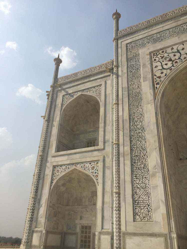 Close-Up of the Taj Mahal in Agra, India