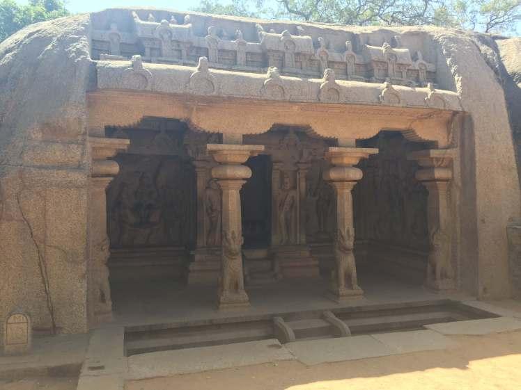 Varhana Cave Temple in Mahabalipuram, Tamil Nadu, India