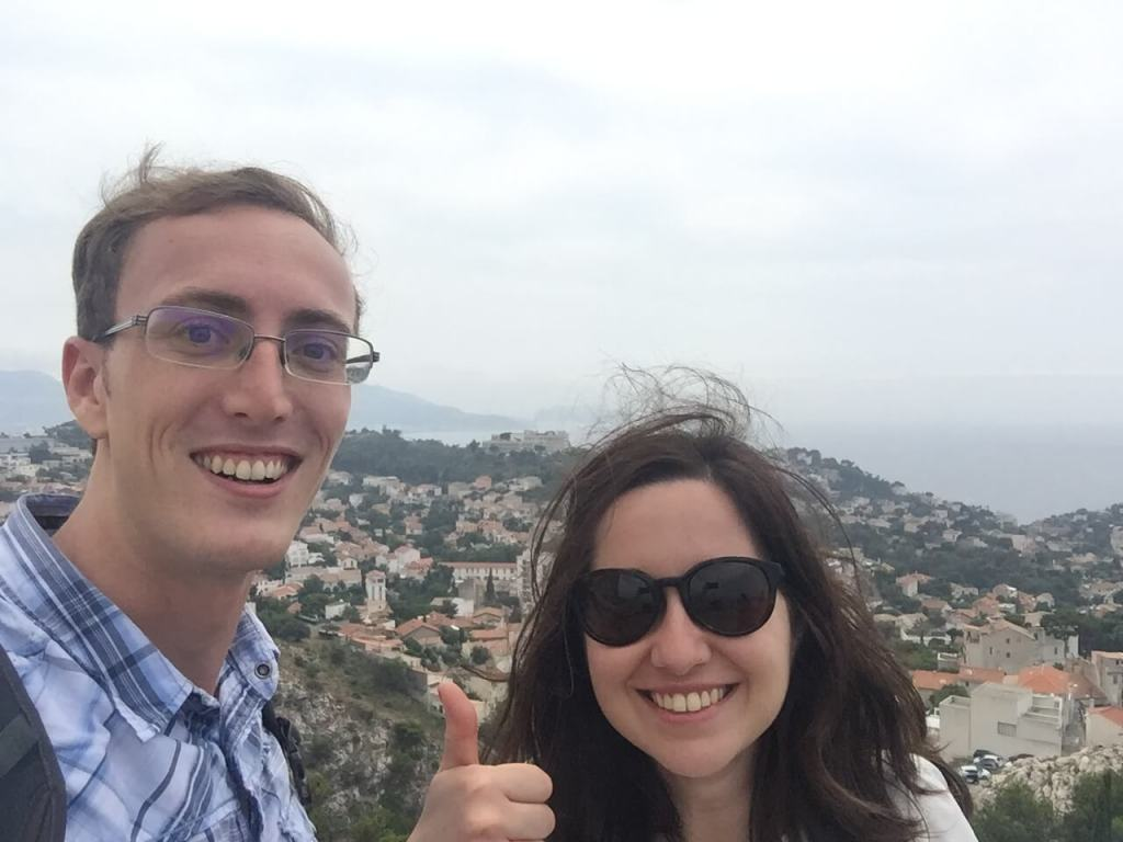 Selfie with Marion in Marseille, France