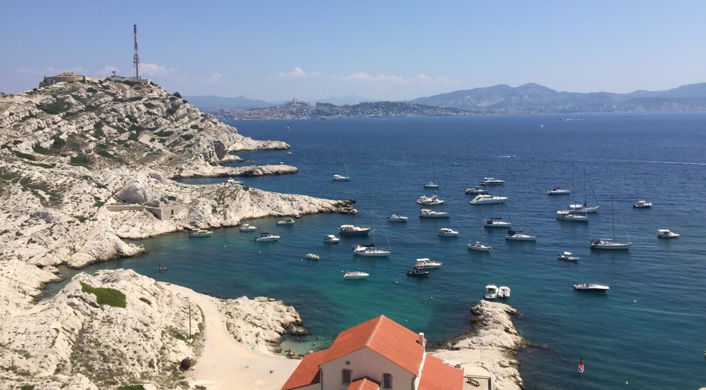 View from Frioul, Marseille, France