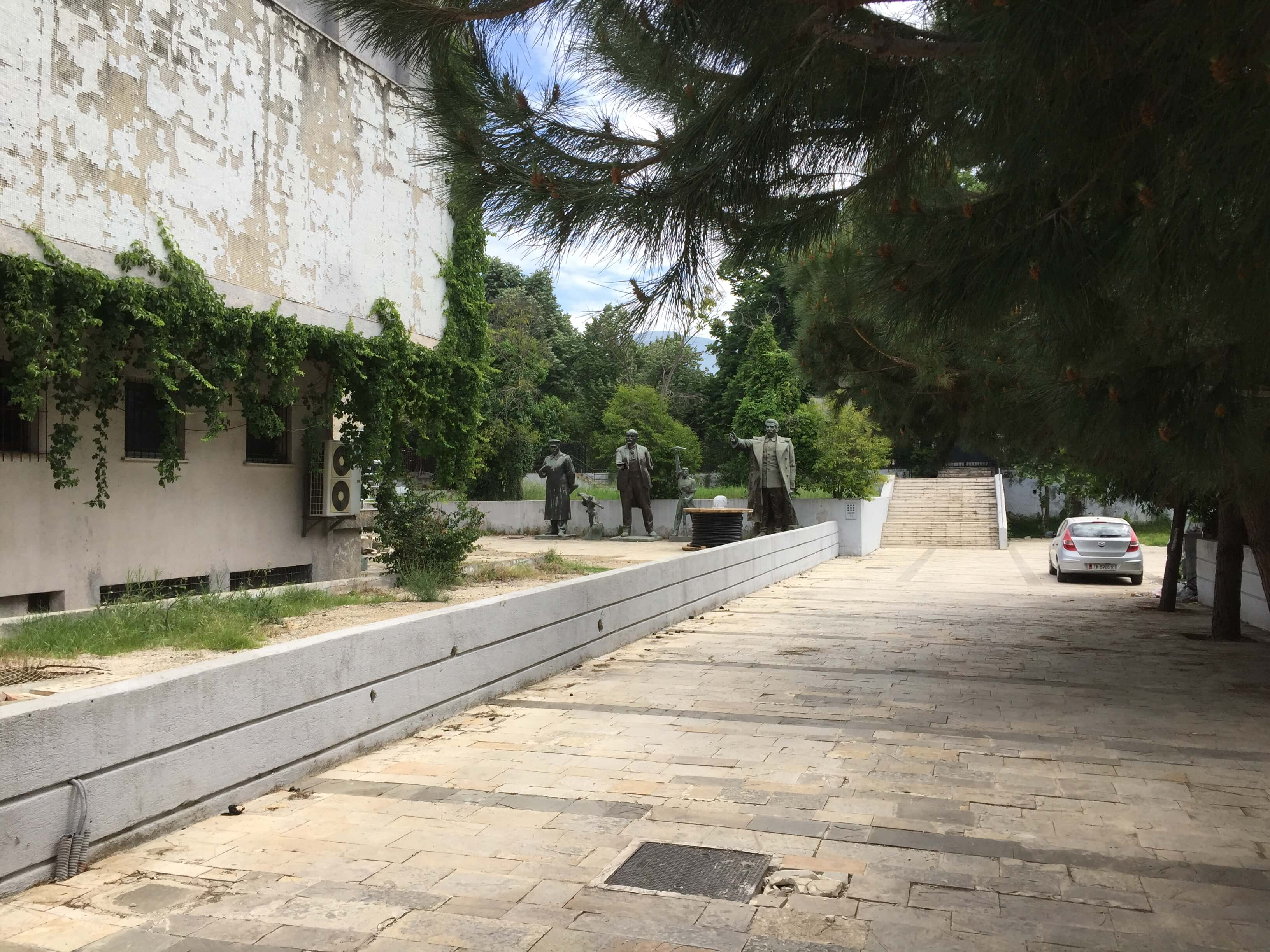 Abandoned Communist Statues in Tirana, Albania