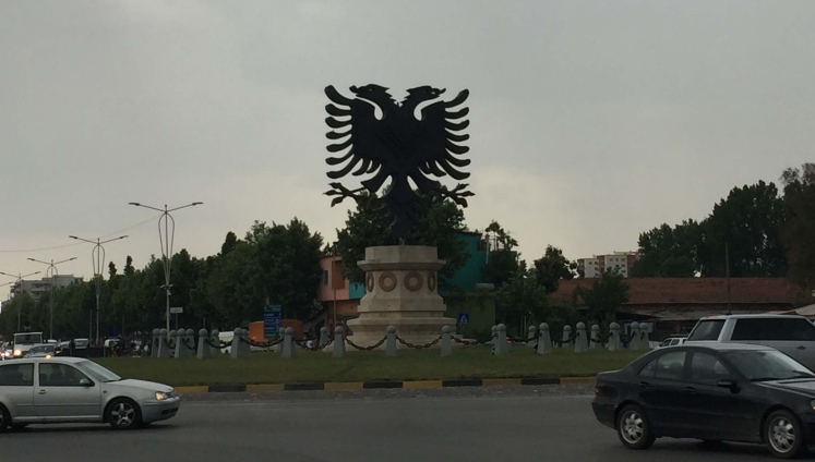 Albanian Eagle in Roundabout, Tirana, Albania
