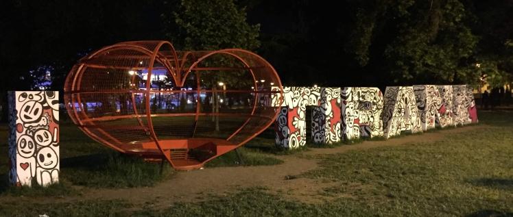 I Love Tirana Sign, TIrana, Albania