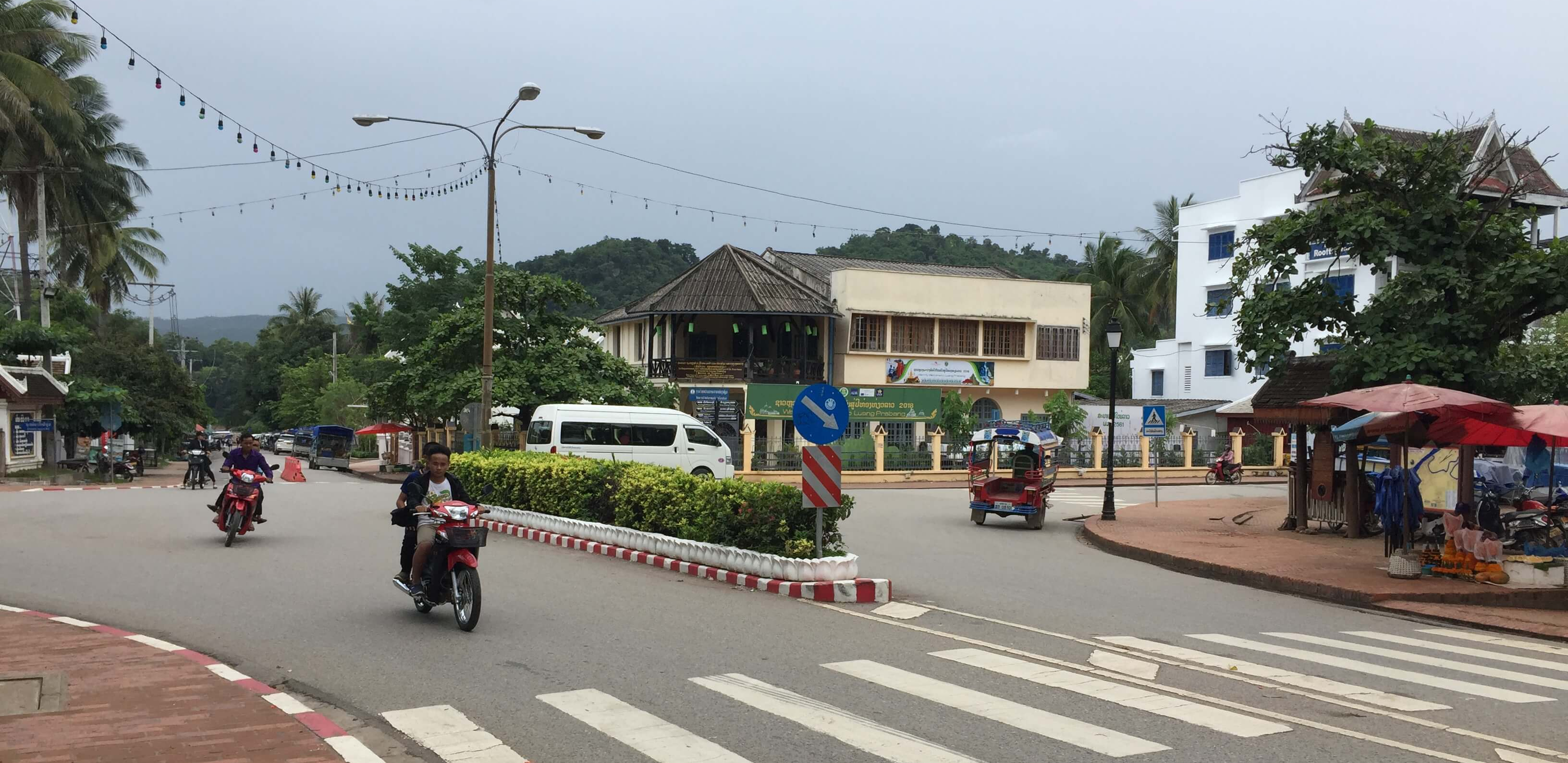 Intersection in Luang Prabang, Laos