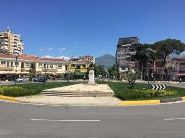 Roundabout in Tirana, Albania