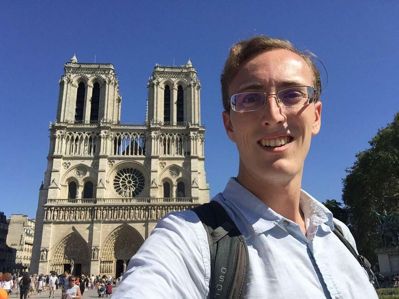 Selfie with Notre Dame de Paris, Paris, France