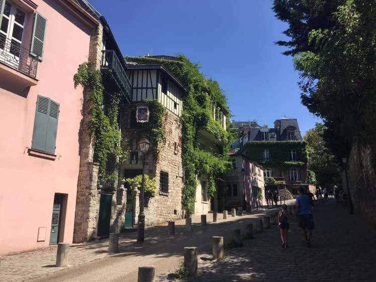 A Street in Montmartre, Paris, France