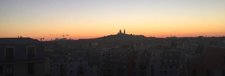 Sunset over Paris, France