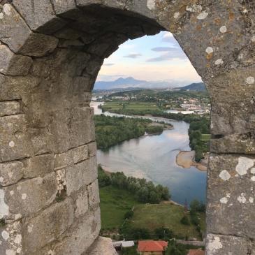 Drin River from Rozafa Castle in Shkodër, Albania