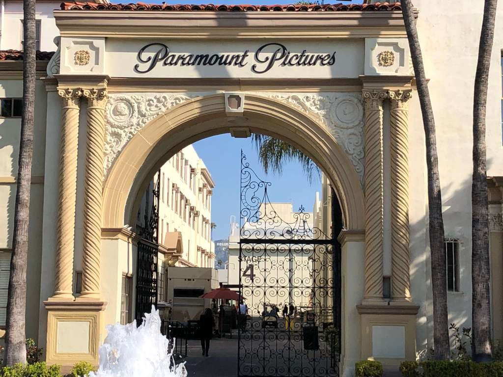 Paramount Pictures Gateway Arch in Hollywood, California, USA