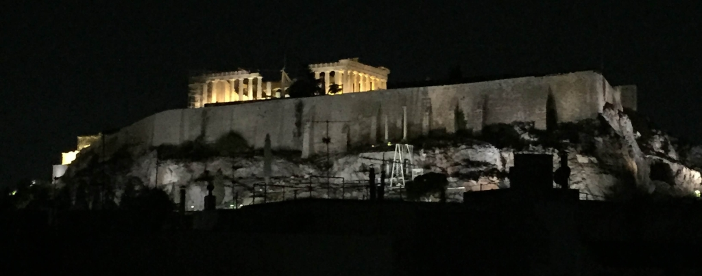 The Acropolis by Night, Athens, Greece