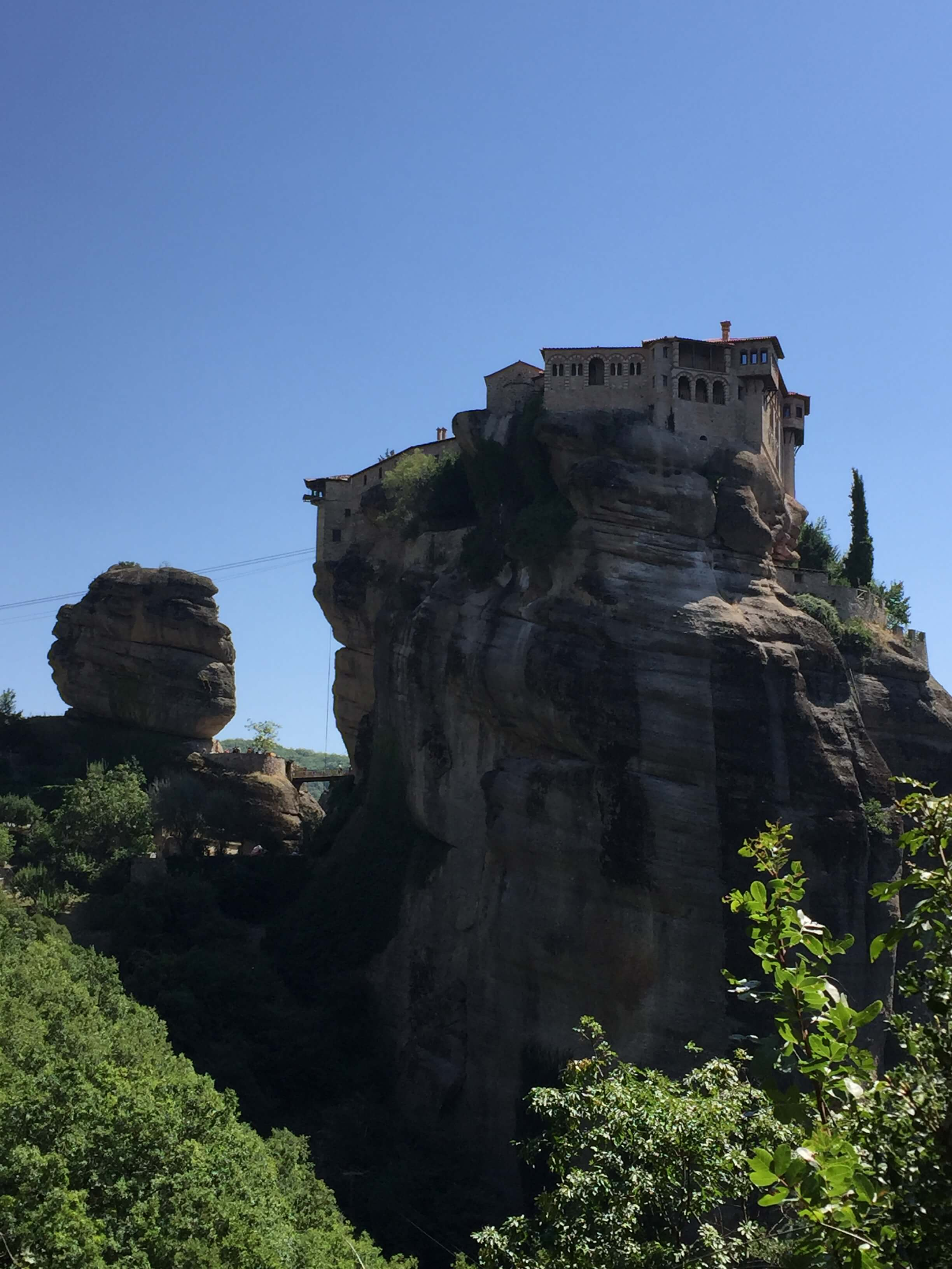 Clifftop Monastery at Metéora, Thessaly, Greece