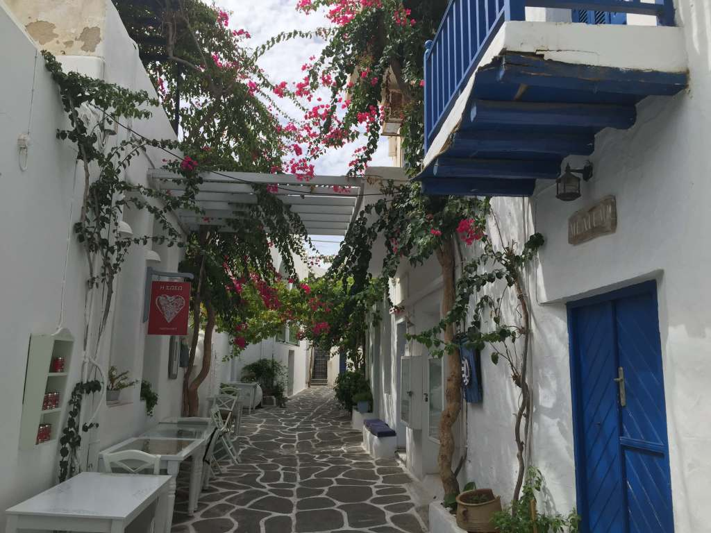 Alleyway on Paros, Greece