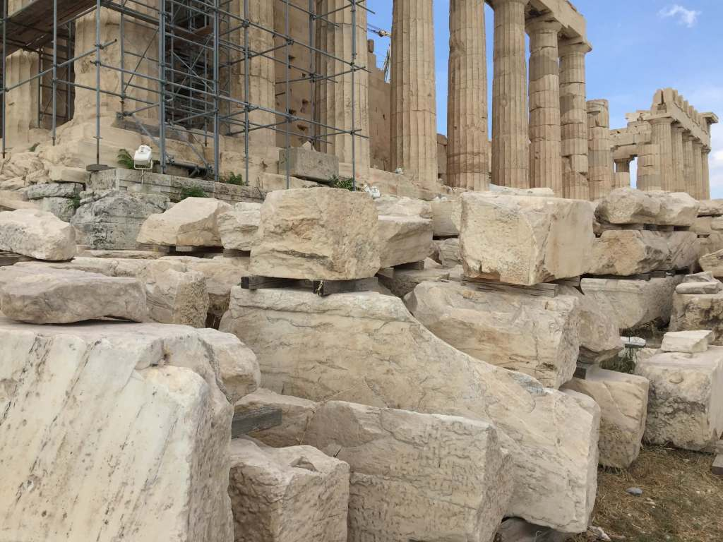 Stones on the Acropolis, Athens, Greece