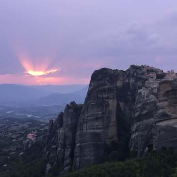 Sunset at Metéora, Thessaly, Greece