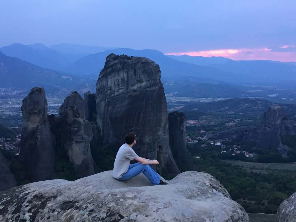 Watching the Sunset in Metéora, Thessaly, Greece