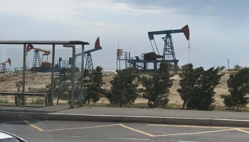Oil Jacks on the Abşeron Peninsula, Azerbaijan