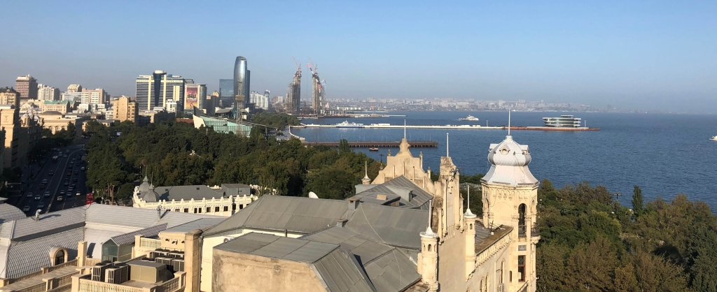 View of Baku Bay, Baku, Azerbaijan