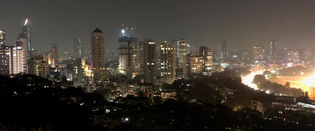 Nighttime Skyline, Mumbai, Maharashtra, India