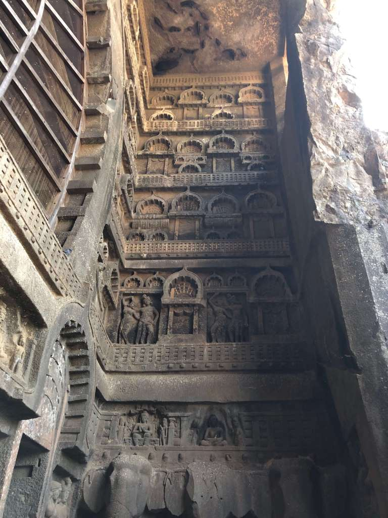 Carvings at Karla Caves, Lonavala, Maharashtra, India