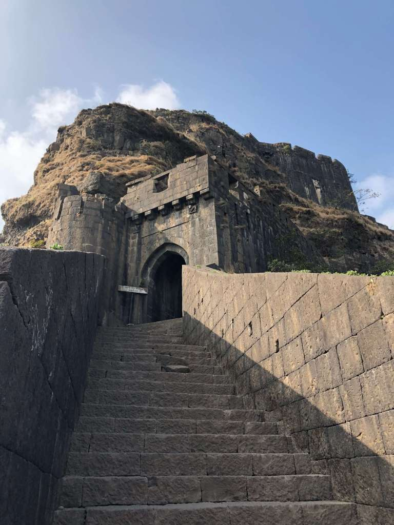 Entrance to Lohagad Fort, Lonavala, Maharashtra, India