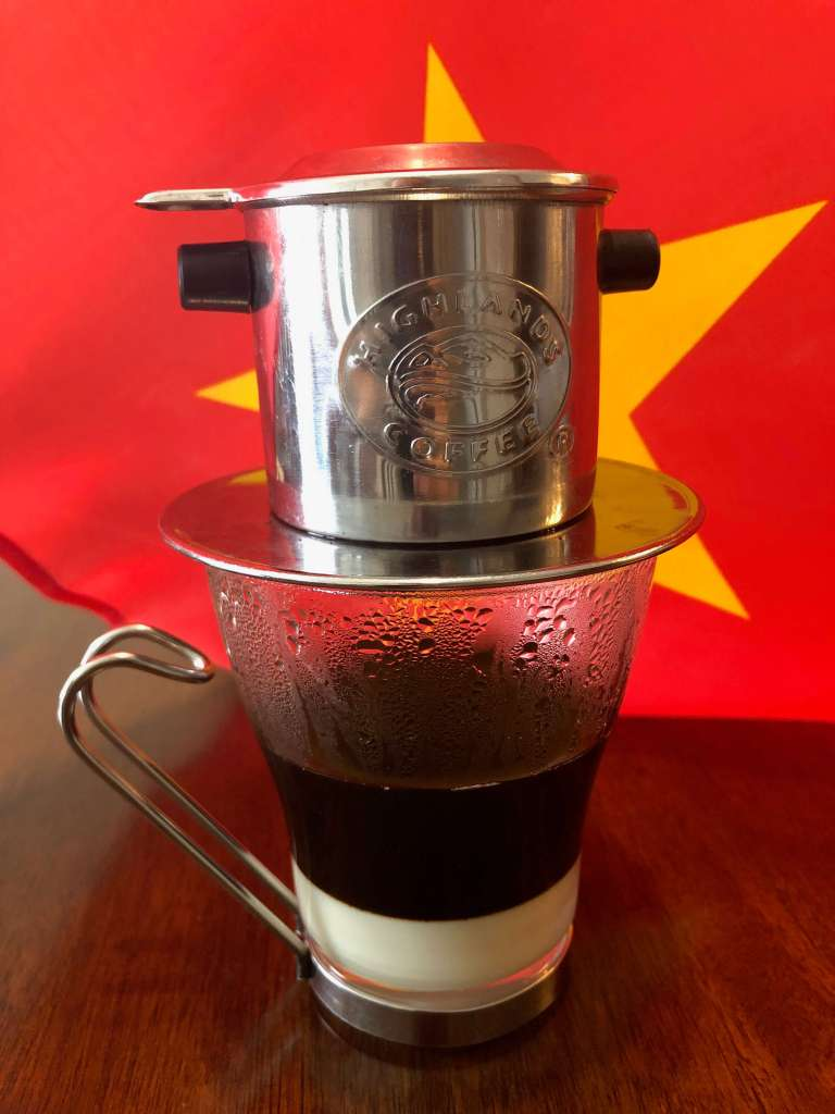 Vietnamese Phin Coffee with Flag