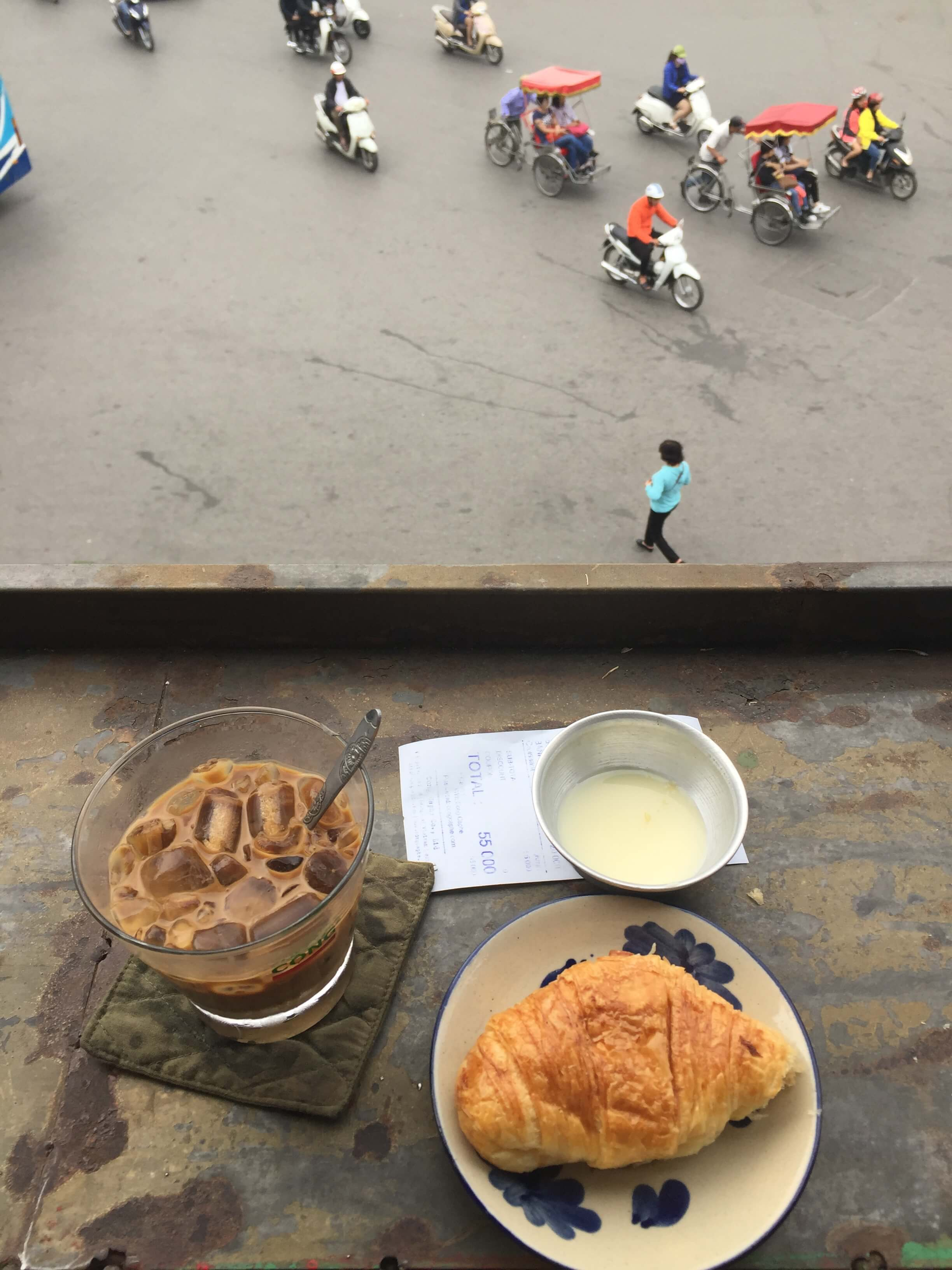 Vietnamese Iced Coffee in Hanoi, Vietnam